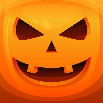 Banner di sfondo haloween spaventoso vettoriale illustrazione zucca