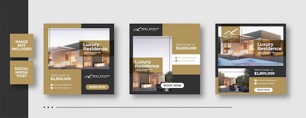 Banner di social media immobiliare