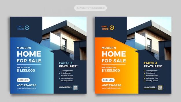 Banner di social media immobiliari