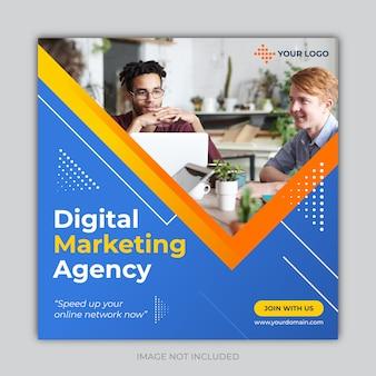 Banner di social media marketing aziendale digitale