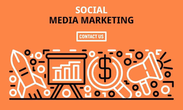 Banner di social media marketing, struttura di stile