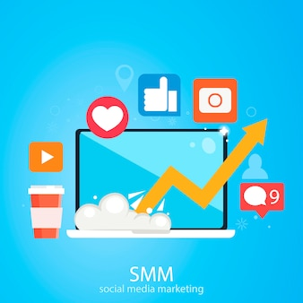 Banner di social media marketing