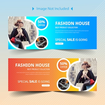 Banner di social media vendita web