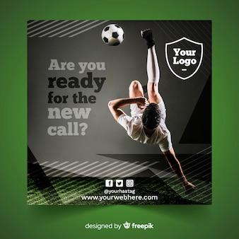 Banner di sport con design piatto foto