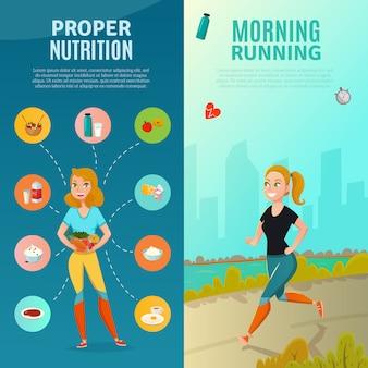 Banner di stile di vita sano
