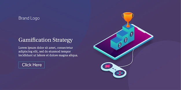 Banner di strategia di gamification