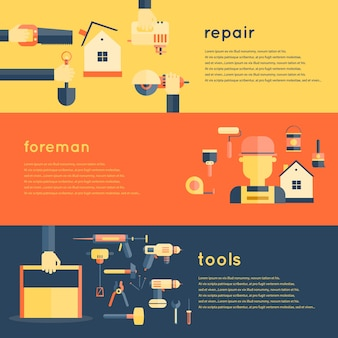 Banner di strumenti di riparazione domestica