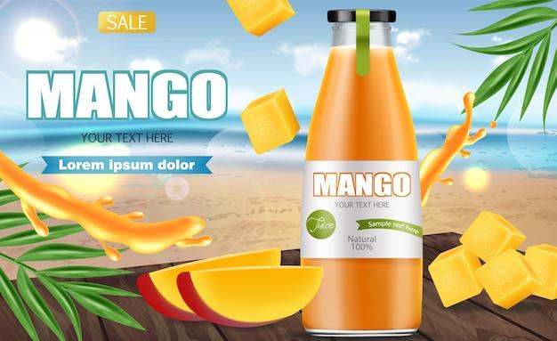 Banner di succo di mango
