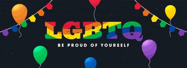 Banner di supporto alla comunità lgbtq.