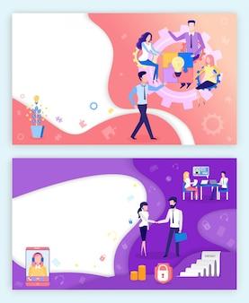 Banner di sviluppo commerciale di collaborazione