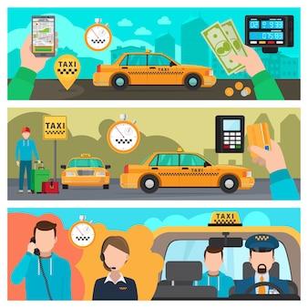Banner di taxi
