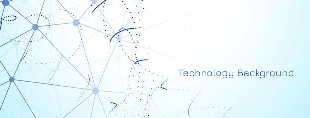 Banner di tecnologia moderna astratta