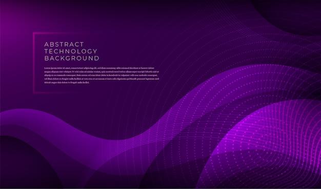 Banner di tecnologia moderna con varie forme ondulate astratte.