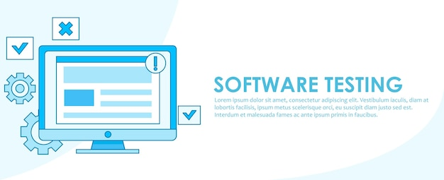 Banner di test del software