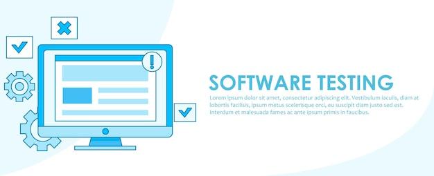 Banner di test del software