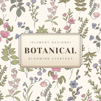 Banner di testo botanico