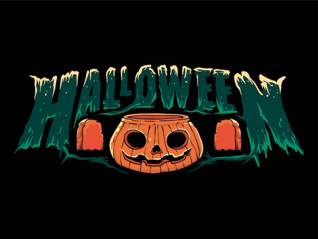 Banner di testo felice halloween