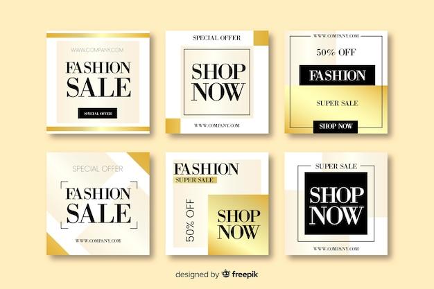 Banner di vendita astratti per social media