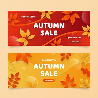 Banner di vendita autunno
