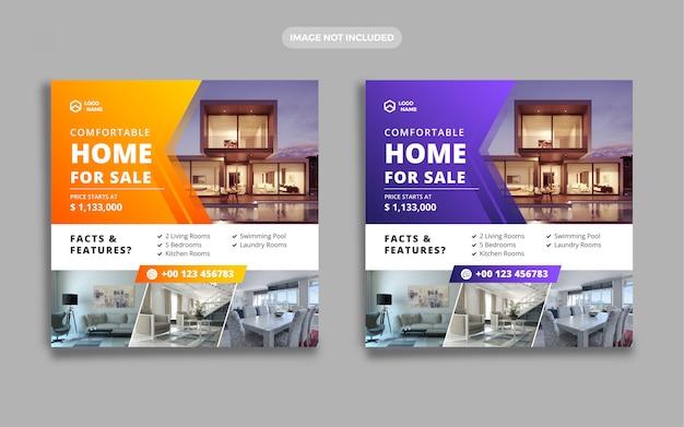 Banner di vendita casa immobiliare