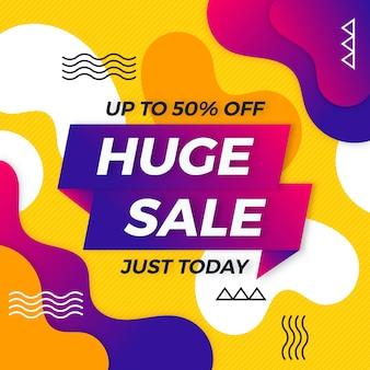 Banner di vendita colorato astratto