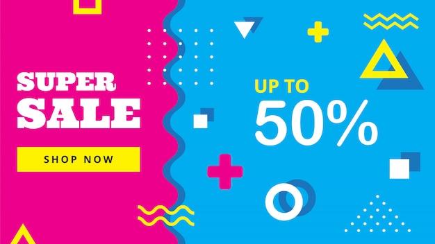 Banner di vendita colorato