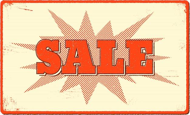 Banner di vendita con forma di botto di semitono