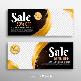 Banner di vendita con sconto speciale