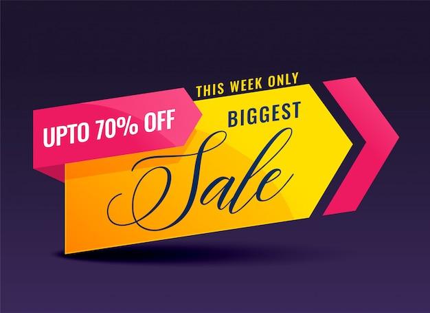 Banner di vendita creativo per promozione e marketing