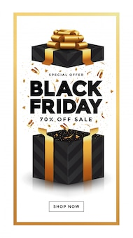 Banner di vendita del black friday 4