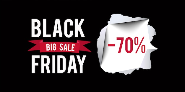 Banner di vendita del black friday.