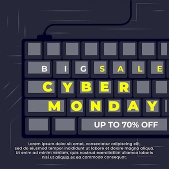 Banner di vendita del cyber monday