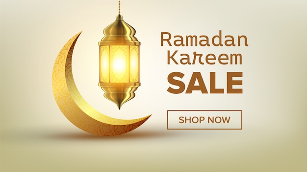 Banner di vendita del ramadan
