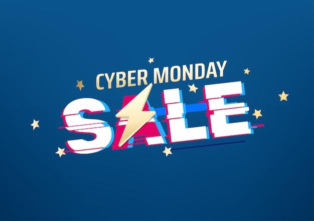 Banner di vendita di cyber lunedì.