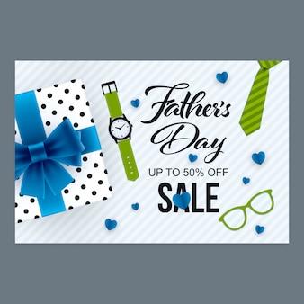 Banner di vendita di giorno di padri