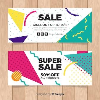 Banner di vendita di memphis