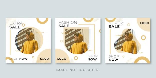 Banner di vendita di moda moderna per instagram