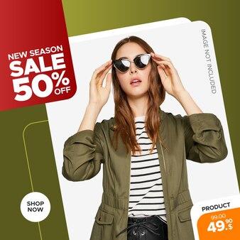 Banner di vendita di moda moderna per post web e instagram