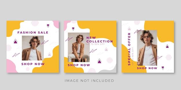 Banner di vendita di moda per modello di post di social media