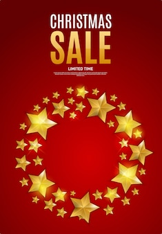 Banner di vendita di natale e capodanno