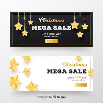 Banner di vendita di natale realistico