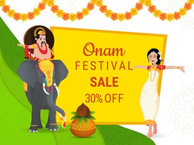 Banner di vendita di onam festival.