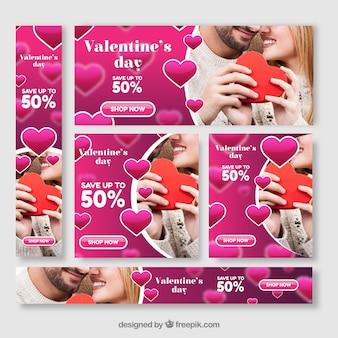 Banner di vendita di San Valentino fotografica