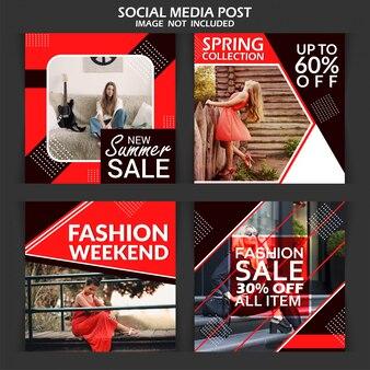 Banner di vendita di sconto di moda
