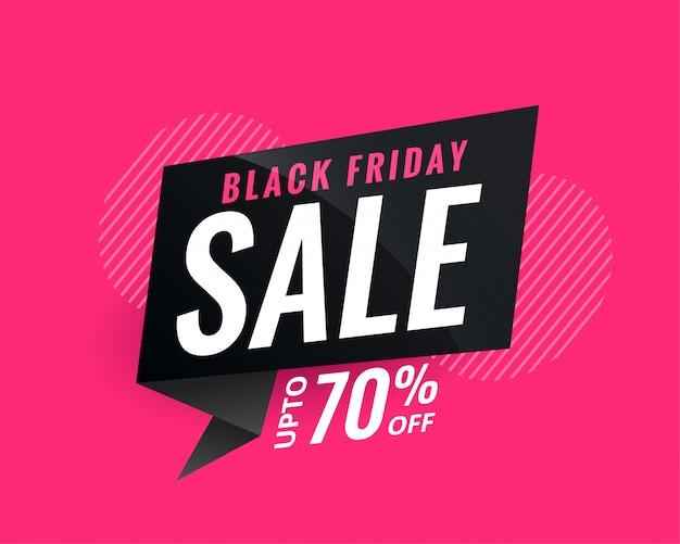 Banner di vendita di sconto per venerdì nero