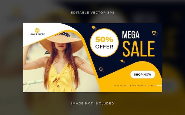 Banner di vendita di social media