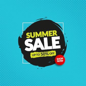 Banner di vendita dinamico modificabile per web e instagram
