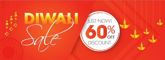 Banner di vendita diwali.