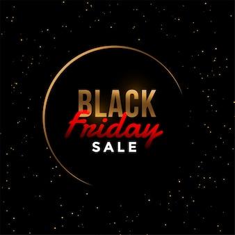 Banner di vendita dorato venerdì nero elegante
