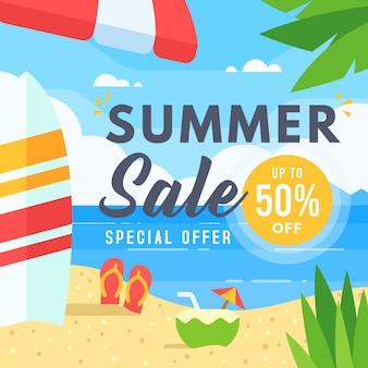 Banner di vendita estiva per social media marketing